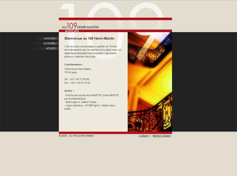 Avocats - 109 Henri-Martin