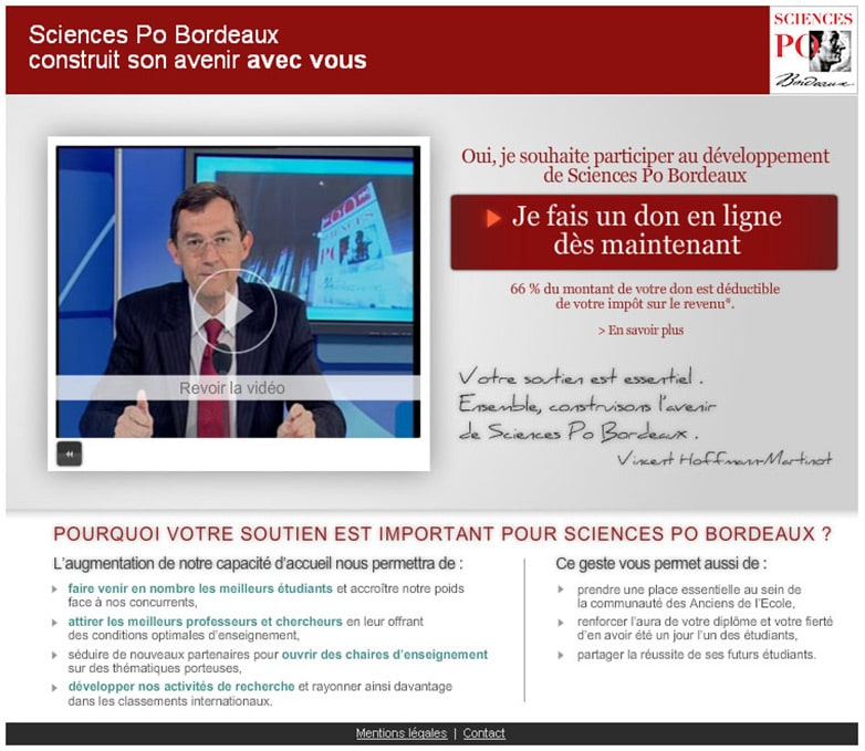 Science Po Boprdeaux - campagne de dopns